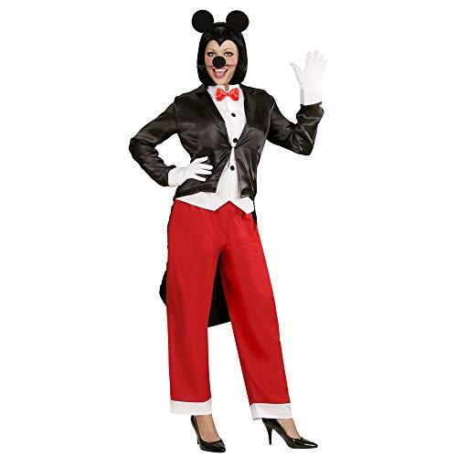 Widmann 05891 Volwassen kostuum Miss Mouse, dames, meerkleurig