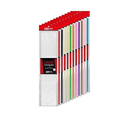 CRISCOLOR Surtido 12 colores papel crespon, pinocho ✅