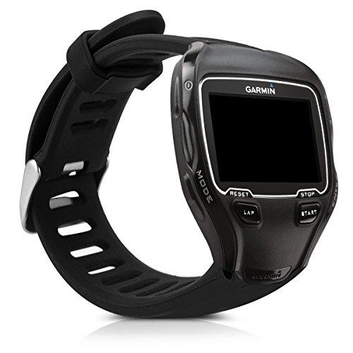 kwmobile Pulsera Compatible con Garmin Forerunner 910XT - Brazalete de Silicona en Negro sin Fitness Tracker