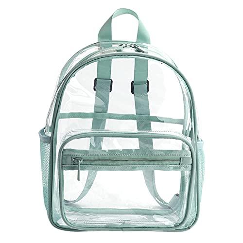 Mochila Transparente, Bolsa Transparente Transparente De PVC De Gran Capacidad, Mochila Escolar Diseñada con Cierre De Cremallera para Niñas