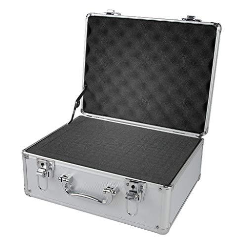 Maletín de Herramientas Caja de herramienta de aluminio - Negro tira de espuma Estuche de herramientas caja de herramientas caja de la cartera portátil Organizador Bolsa Portaherramientas