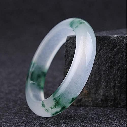 QVQV Pulsera De Jade Verde CláSico Chino Natural JoyeríA Redonda De Estilo De Moda Regalo De Madre Amor con Exquisito Joyero