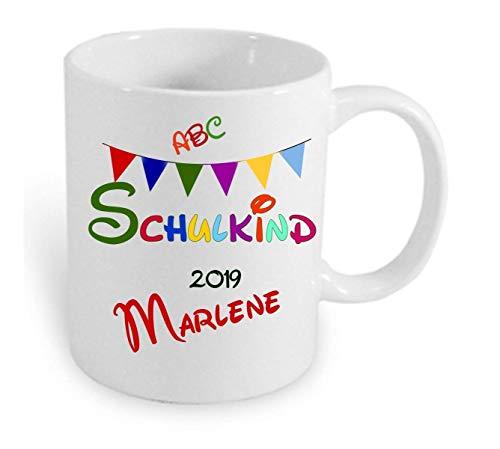 Geschenk zum Schulanfang Erster Schultag HM~ AA577 ~ Schulkind 2020 Namenstasse Kind Mädchen Junge Einschulung