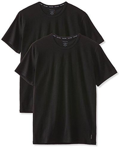Calvin Klein Herren T-Shirt 2P S/S CREW NECK, Gr. X-Large, Schwarz (BLACK 001)
