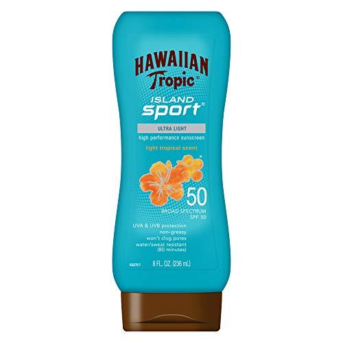 Hawaiian Tropic Island Sport Broad Sprectrum Sunscreen Lotion, SPF 50 - 8 Ounce