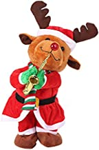 Kiar Singing and Dancing Funny Santa Claus Elk Snowman Musical Christmas Toy Tree Before Nightmare White who DVD for Doctor Stole Outfit Carol Vacation Bag Bad July