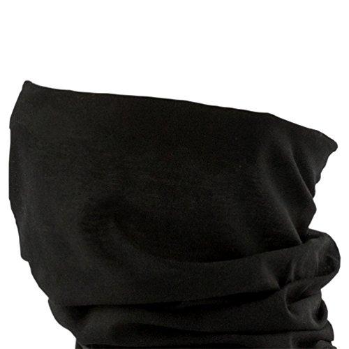 Oblique-Unique Damen/Herren Mikrofaser Multifunktionstuch K-150 (Pure Black)