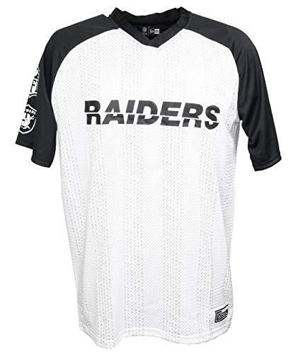 New Era Oakland Raiders T Shirt NFL American Football Sommer Weiss - XL