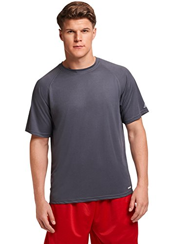 Russell Athletic Men's Dri-Power Performance Mesh T-Shirt, Stealth, XL