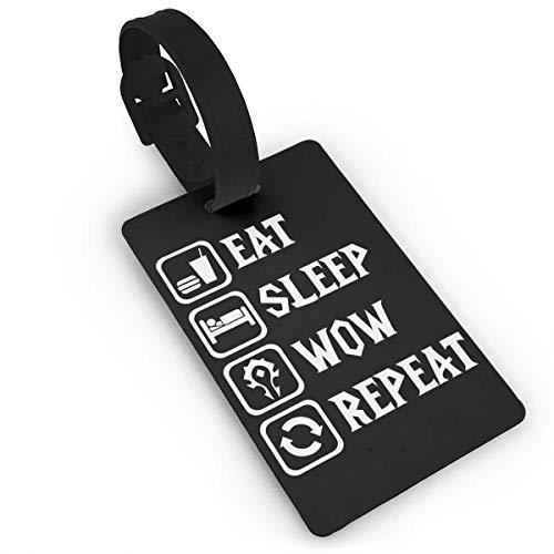 Essen Sie Schlaf Wow Wiederholen Sie Lage Tasche Tags Reise Tags Reise ID Tag