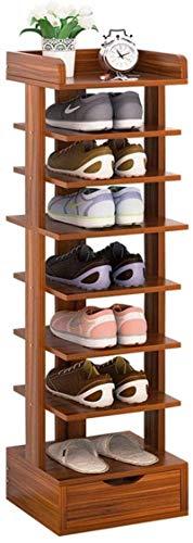 Ranuras de zapato ajustables Organizador Bastidore Rack de zapatos 8 niveles de zapato con cajón Moderno de zapatos Muebles para el hogar Pasillo de pasillo Vertical Space Saving Almacenamiento Organi
