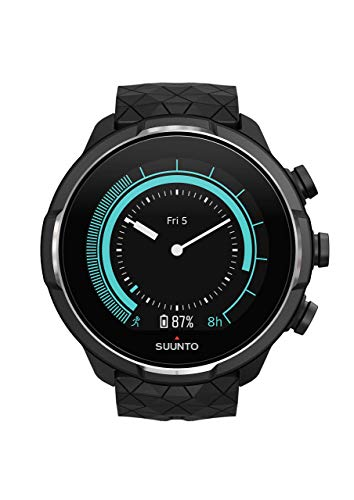 Suunto 9, GPS Sports Watch with Long Battery Life and Wrist-Based Heart Rate, Barometer, Titanium (Renewed)