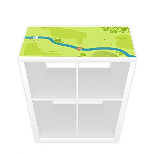 Nikima - Lámina de juego para estantería Kallax, 38,5 cm, bosque y pradera (muebles no incluidos)