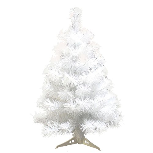 BESTOYARD Árvore de Natal artificial com suporte de 60 cm decorações de festa de casa de Natal branca