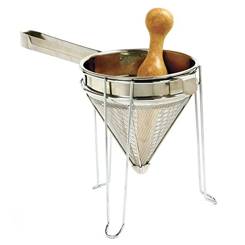 Norpro Stainless Steel Chinois with Stand and Pestle Set, One Size, As Shown