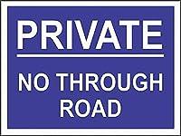 2個 プライベートノースルーロードブリキサインメタルプレート装飾サイン家の装飾プラークサイン地下鉄メタルプレート8x12インチ メタルプレート レトロ アメリカン ブリキ 看板