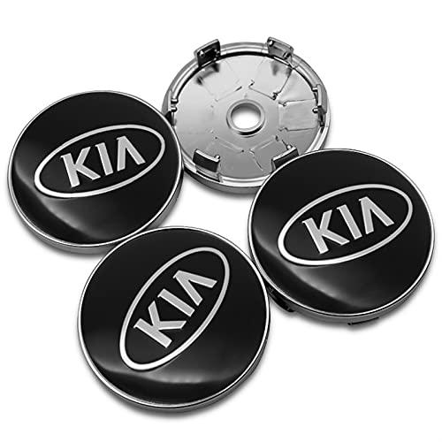 YTRGED 4pcs 60mm Wheel Center Hub Caps Coche Emblem Badge Logo Wheel Center Cap para KIA Rio Ceed Sportage Sorento K2 K3 K4 K5 K9 Picanto