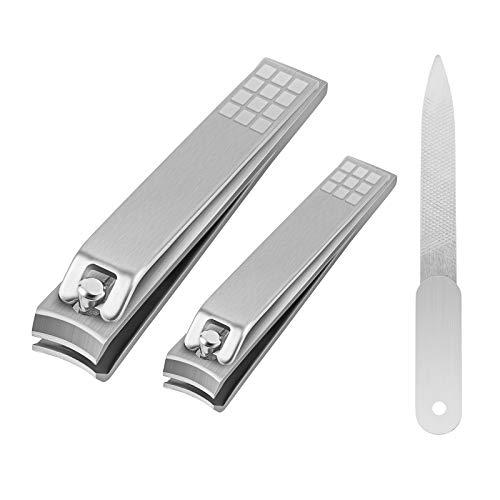 MINGTU Nail Clippers Set Long Lasting Sharp Toenail and Fingernail Clippers Professional Sturdy Stainless Steel Nail Cutter for Men amp Women Include Nail File