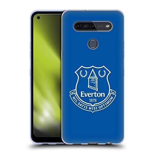 Head Case Designs Oficial Everton Football Club Azul Liso Cresta Carcasa de Gel de Silicona Compatible con LG K51S