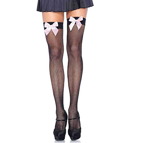 Leg Avenue Dames Fishnet Thigh Panty, zwart, One Size
