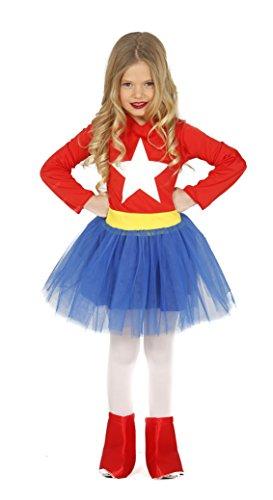 Guirca - Disfraz Supergirl, talla 3-4 años, color rojo (83212)