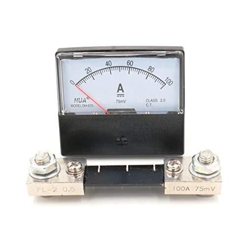DH-670 DC 100A Amperemeter Analog Amperemeter mit 75mV Shunt