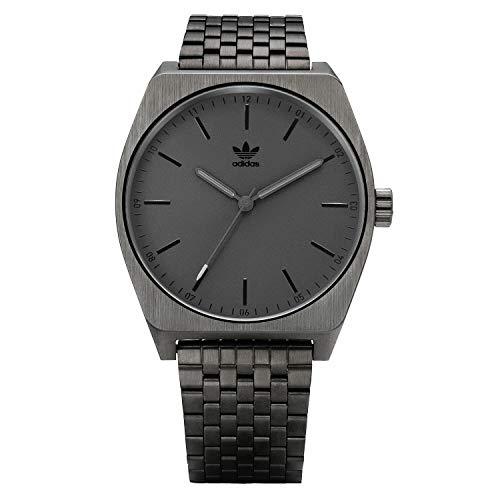 adidas Watches Process_M1. 6 Link Stainless Steel Bracelet, 20mm Width (All Gunmetal/Black. 38 mm).