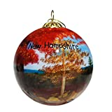 Art Studio Company Hand Painted Glass Christmas Ornament - Autumn in New Hampshire