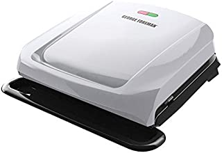 George Foreman GRP1060P 4-Serving Removable Plate Grill, Platinum by George Foreman