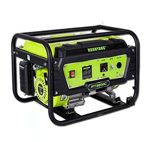qiwangsheng Generador Electrico Portatil Generador para Camping Gasolina Hogar Multicombustible Pequeño-Arranque Manual De 3Kw (Gasolina) 220V