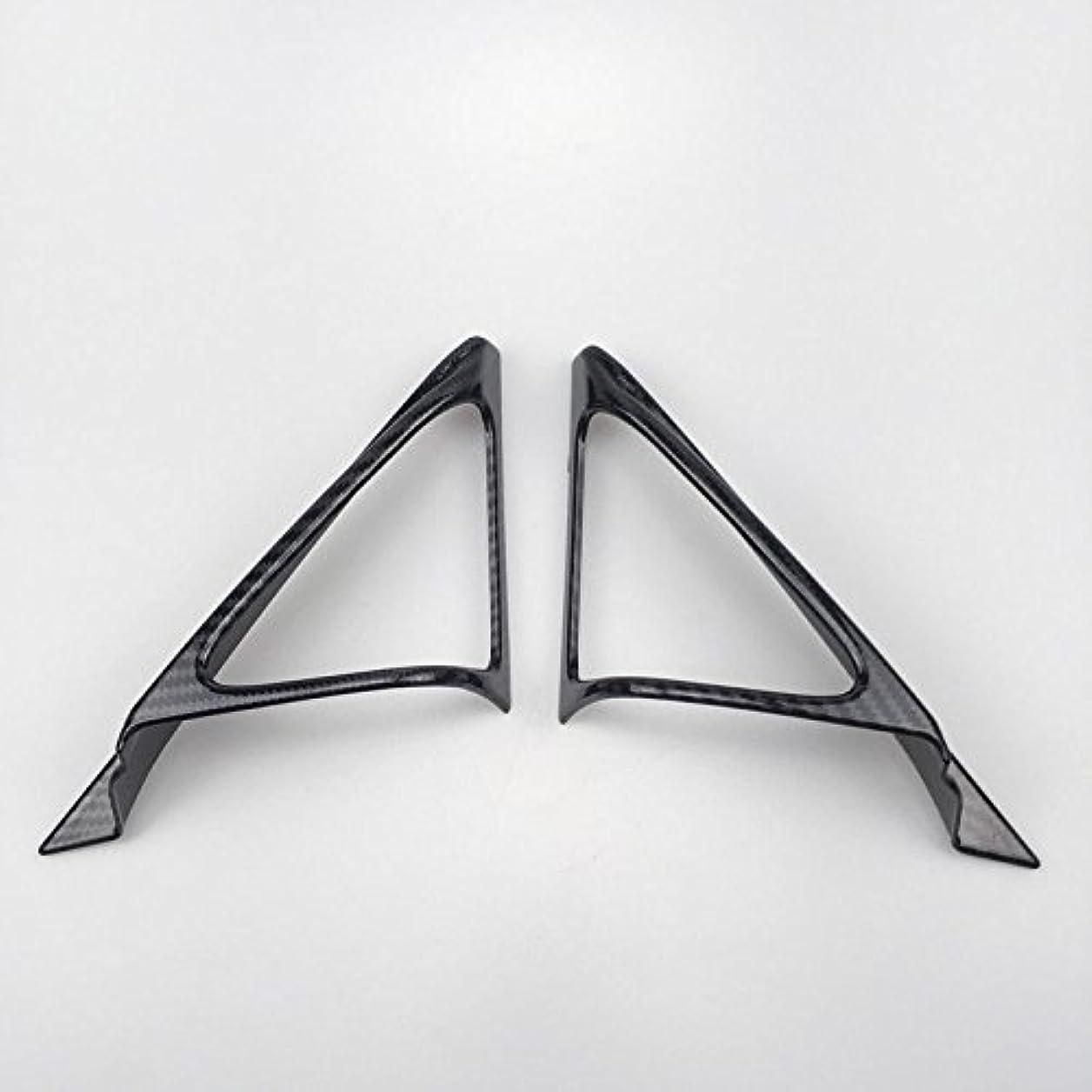 歯車住人賢いJicorzo - 2pcs ABS Plastic A Pillar Triangle Cover Trim For Honda Accord Tenth generation 2018 Car Interior Accessories Styling