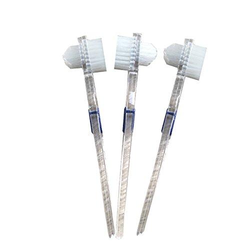 SUPVOX 3 unids Cepillo para dentaduras postizas Limpiador de higiene de Primera Calidad para la prótesis Dental Limpiador de prótesis