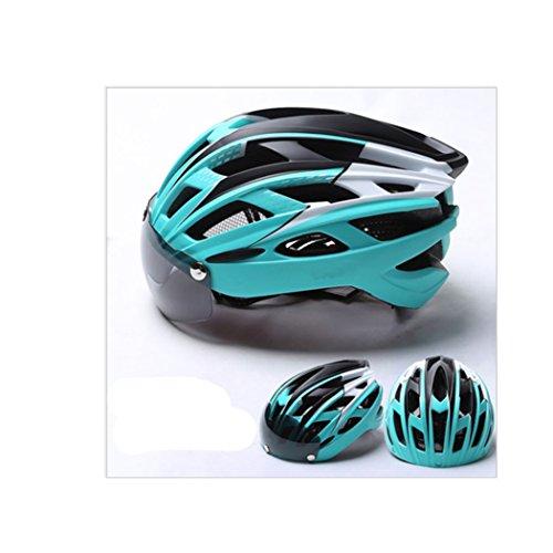 MISHUAI fietshelm, fietshelm met 27 gaten, hoofdbescherming, keuze uit 8 kleuren (kleur: blauw)
