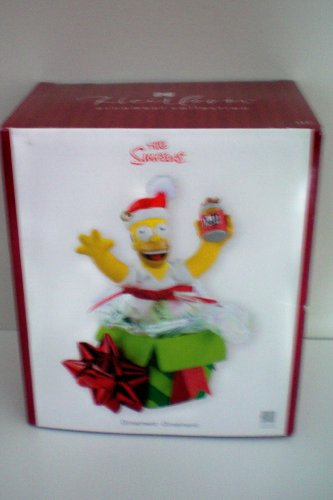 Homer Simpson of The Simpsons Christmas Tree Holiday Ornament Ornement - NEW IN BOX