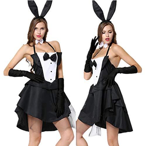 Lencería para Mujer Disfraz De Animal Adulto De Halloween Sexy Bunny Girl Disfraces De Conejo Mujeres Cosplay Disfraz Clubwear Ropa De Fiesta Productos Sexy Set @ One_Size