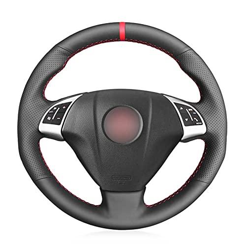 VIdisp Cubierta de Volante de Coche de Cuero Artificial Negro, Apto para Fiat Grande Punto Bravo Linea 2007-2019 Qubo Doblo Opel Combo