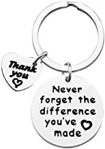 Coworker Leaving Gift Retirement Keychain Never Forget The Difference You've Made Keychains Appreciation Gifts for Colleague Teacher Coach Thank You Gift Going Away Gift Boss Birthday Retired Keychain
