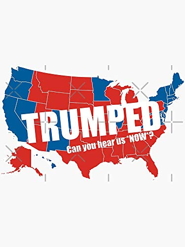 Trumped 2016 Elections USA Electoral Map Vote #MAGA Make America Great Again - Sticker Graphic -Stickers for Hydroflask Water Bottles Laptop Computer Skateboard, Waterproof Decal Stickers -  decals, HDY8228
