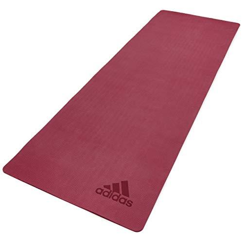 adidas Premium Tappetino Yoga, 5 mm, Ruby