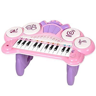 TWFRIC Kids Keyboard Piano Toy, 24 Key Multifun...
