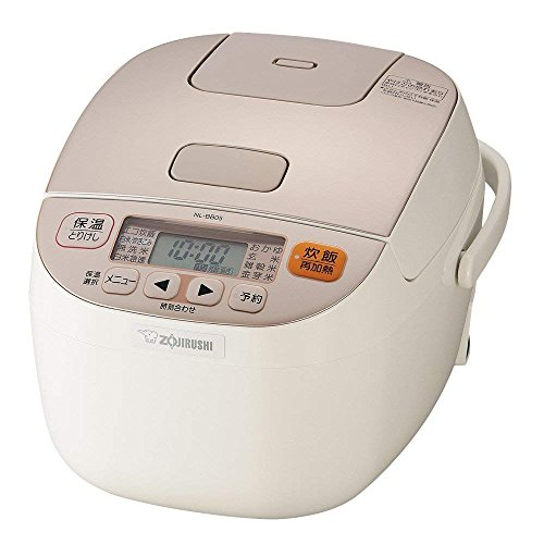 象印 マイコン式炊飯器 3合 一人暮らし 極め炊き シャンパンホワイト NL-BB05AM-WM