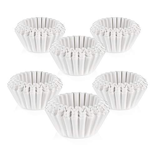 BEEM Original Universal-Korbfiltertüten 600 Stück - 10 Tassen | 80/200m Papierfilter für Kaffeemaschinen mit Korbfilter | weiß