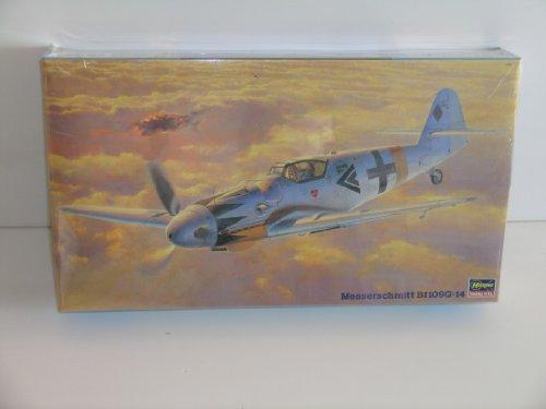 """Hasegawa""""German WW II Messerschmitt Bf 109G-14"""" Plastic Model Kit"""