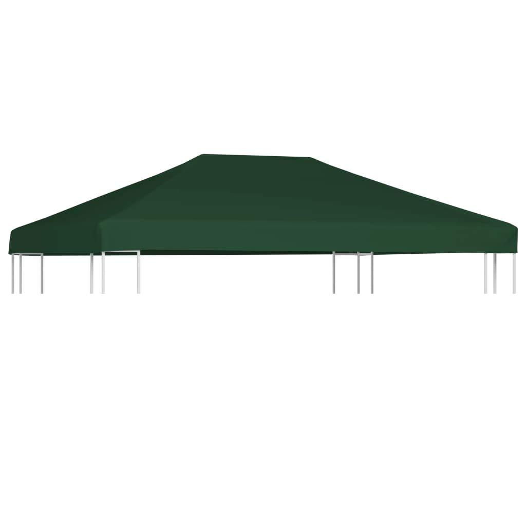 vidaXL Toldo de Cenador 2 Niveles 310 g/m² 3x3 m Verde Pabellón Patio Casa: Amazon.es: Hogar