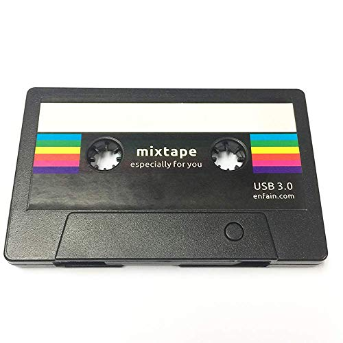Enfain USB 3.0 Flash Drive 16GB Retro Mixtape USB Memory Stick Creative Cassette Tape Design,...