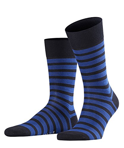 FALKE Herren Socken Even Stripe, 1 Paar, Blau (Dark Navy 6375), 39-42