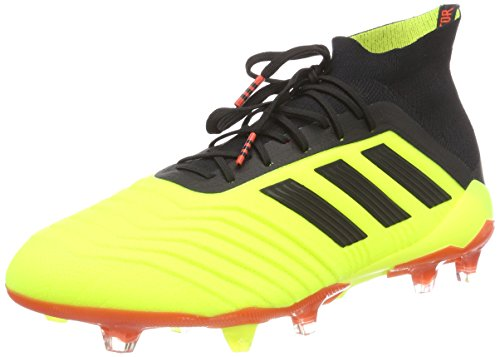 adidas Predator 18.1 Fg, Scarpe da Calcio Uomo, Giallo (Syello/Cblack/Solred Syello/Cblack/Solred), 42 EU
