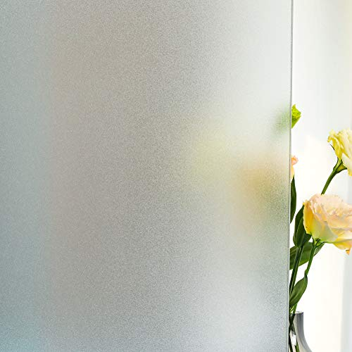 Frosted Window Film,Privacy Static Cling Glass Door Film,Removable...