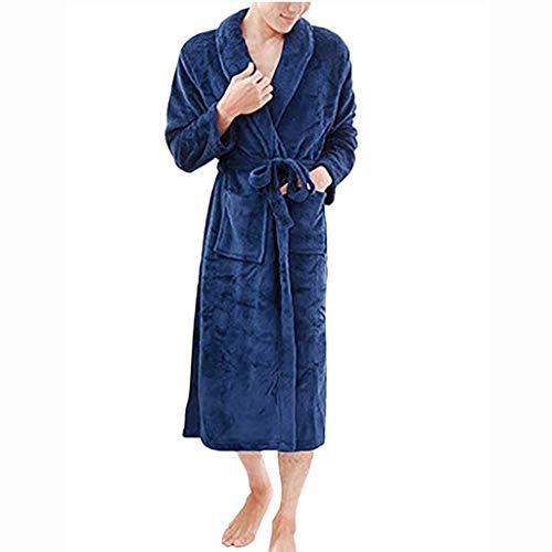serliy😛Winter Starke warme Frauen Männer Roben Cotton Nachtwäsche Lange Robe Spa Plüsch Lange Bademantel Nightgown Kimono Startseite Kleidung