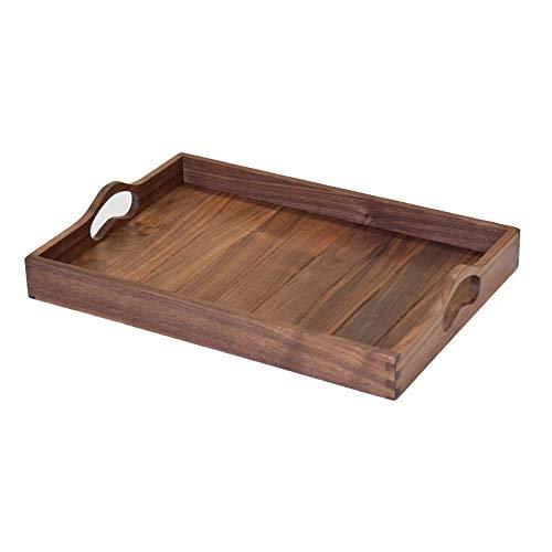 Yjdr Binaural Tea Tray, Black Walnut, Dienblad, massief houten lade, Tea Set, en Gedroogd fruit Bewaring Duur, 37 cm / 14,4 inch